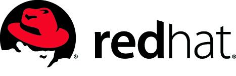 Red Hat-en logoa, Shadowman-ekin, langileok jasotzen dugun fedora gorriarekin.